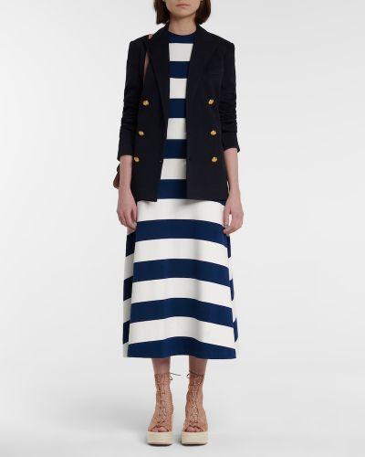 Niebieska sukienka długa w paski bawełniana Polo Ralph Lauren