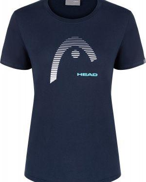 Хлопковая футбольная синяя прямая спортивная футболка Head