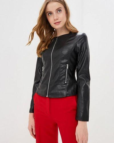 Кожаная куртка черная весенняя Ostin