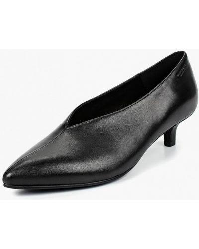 Кожаные туфли на каблуке осенние Vagabond