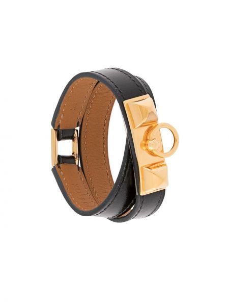 Czarna złota bransoletka Hermes