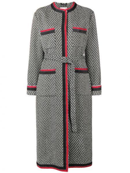 Długi płaszcz trykotowy wełniany Gucci