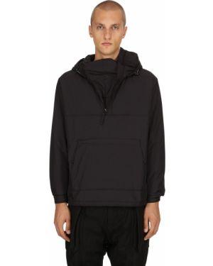 Czarna kurtka z kapturem z nylonu Nilmance