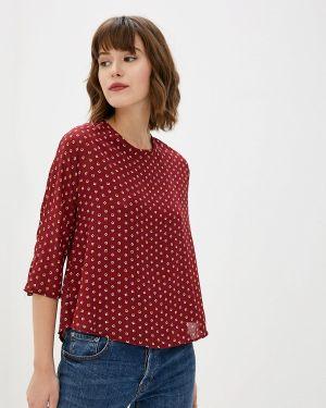 Блузка с длинным рукавом бордовый красная Art Love