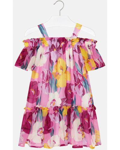 Платье хлопковое со складками Mayoral