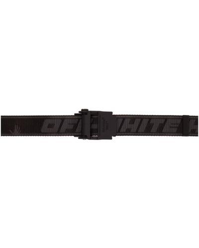 Czarny pasek z paskiem z nylonu Off-white