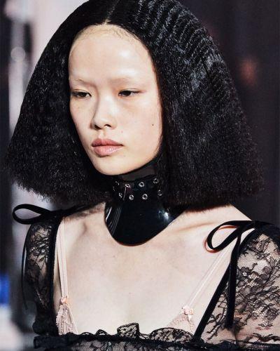 Hipoalergiczny bezpłatne cięcie czarny choker z klamrą Gucci