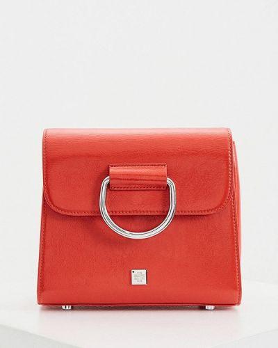 Оранжевая сумка из натуральной кожи Hogl