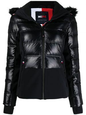 Черная длинная куртка софтшелл с капюшоном Rossignol