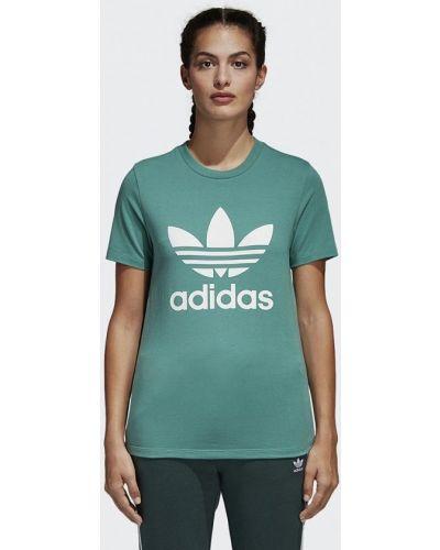 Зеленая футболка Adidas Originals
