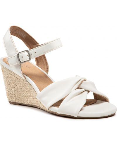 Sandały espadryle - białe Clarks