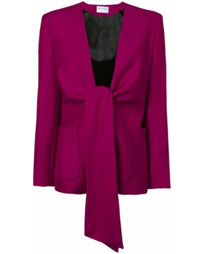 Фиолетовый удлиненный пиджак с воротником на пуговицах Osman