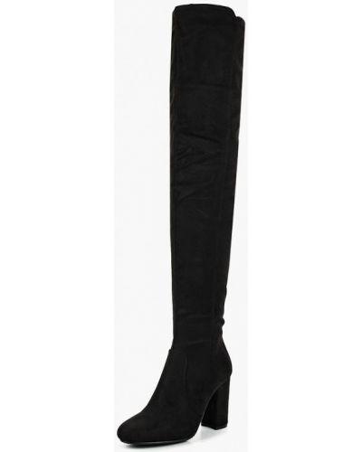 Ботфорты на каблуке замшевые Fashion & Bella