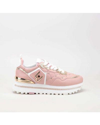 Różowe sneakersy skorzane Liu Jo