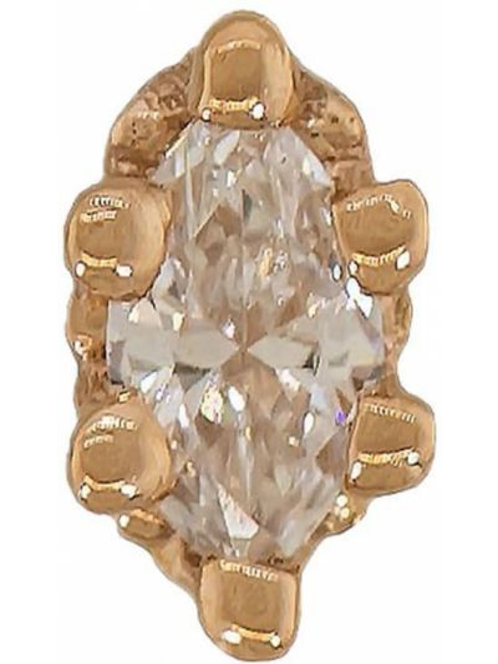 Złote kolczyki ze złota z diamentem Bvla