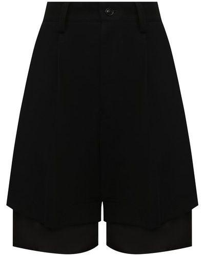 Шерстяные шорты - черные Y`s