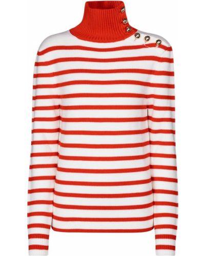 Шерстяной свитер в полоску винтажный Paco Rabanne