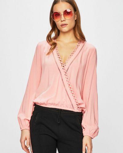 Блузка однотонная с запахом Guess Jeans
