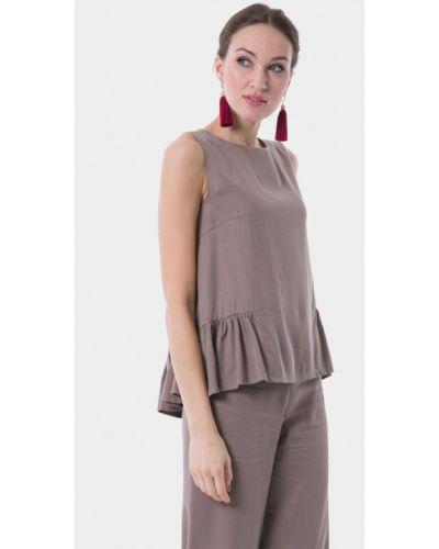 Блузка без рукавов бежевый Vladi Collection