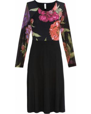 Платье мини с открытой спиной шифоновое Bonprix