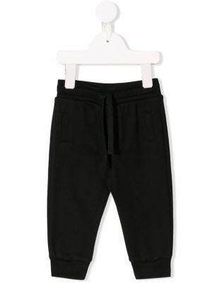 Леггинсы эластичный черный Dolce & Gabbana Kids