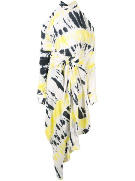 Платье макси длинное - белое Strateas Carlucci