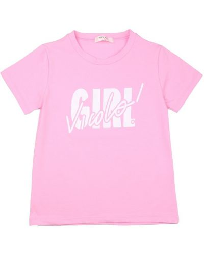 Różowa t-shirt Vicolo