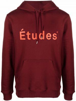 Bluza z printem bordowa Etudes