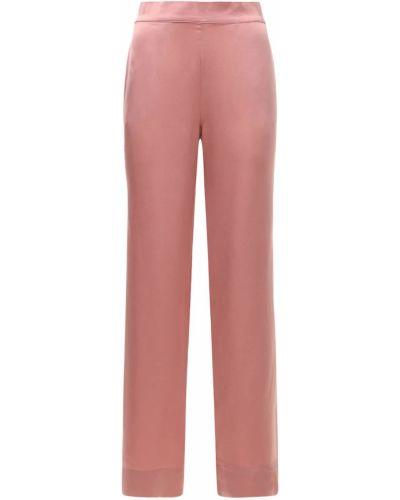 Różowa piżama z jedwabiu Asceno