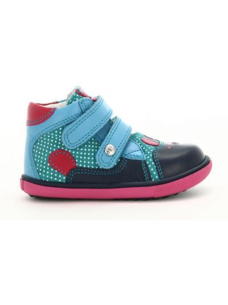 Кожаные кроссовки - голубые Bartek