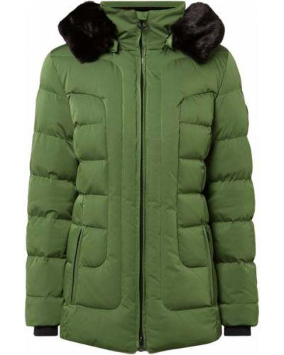 Zielony kurtka z kapturem z mankietami z kieszeniami z zamkiem błyskawicznym Wellensteyn