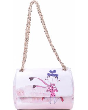 Кожаная сумка - бежевая Love Moschino