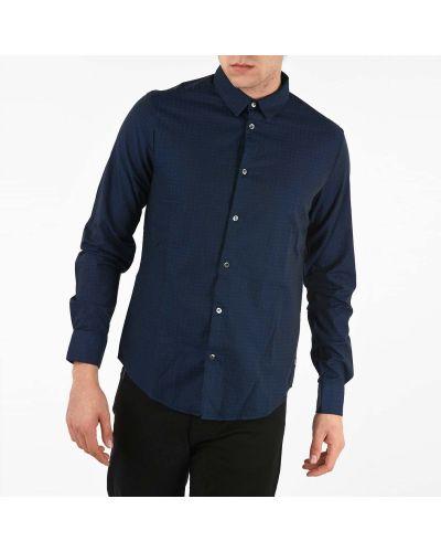 Рубашка с длинным рукавом - синяя Armani
