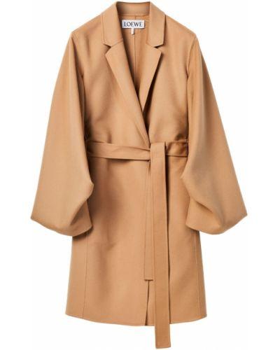 Бежевое кашемировое пальто с карманами Loewe