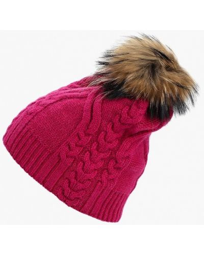 Розовая шапка осенняя Fabretti