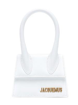 Skórzana torebka na ramię biały Jacquemus