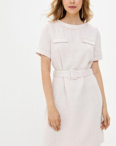 Прямое розовое платье Lusio