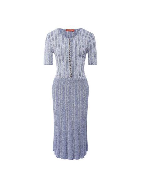 Синее платье из вискозы Altuzarra