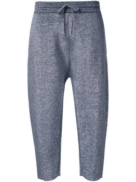 Спортивные брюки укороченные шерстяные Jil Sander