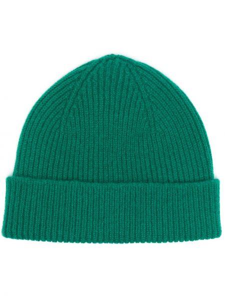 Шерстяная шапка бини - зеленая Le Bonnet