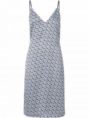 Шелковое платье - синее Burberry