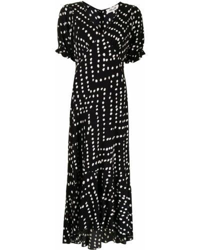 Biała sukienka z wiskozy Dvf Diane Von Furstenberg