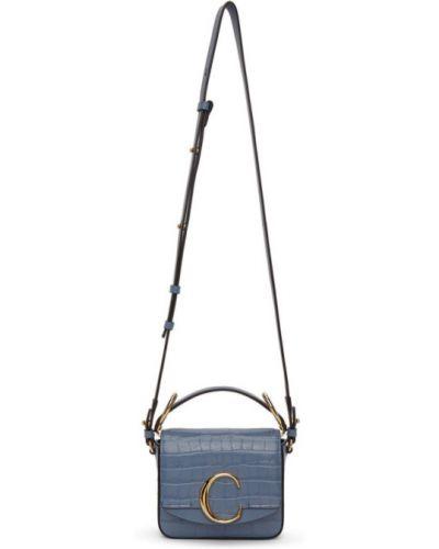 Włókienniczy czarny mini torebka prążkowany wytłoczony Chloe