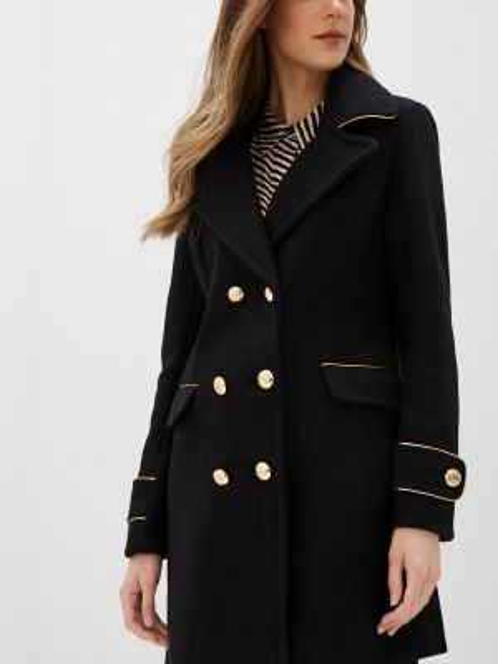 Черное пальто с капюшоном B.style