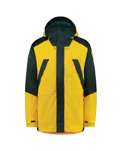 Прямая утепленная желтая куртка O`neill