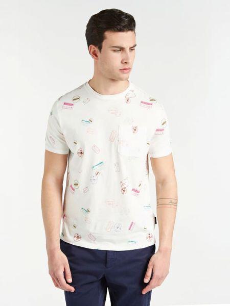 Koszula krótkie z krótkim rękawem z nadrukiem z kieszeniami Guess