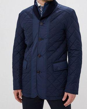 Утепленная куртка демисезонная синяя Bazioni