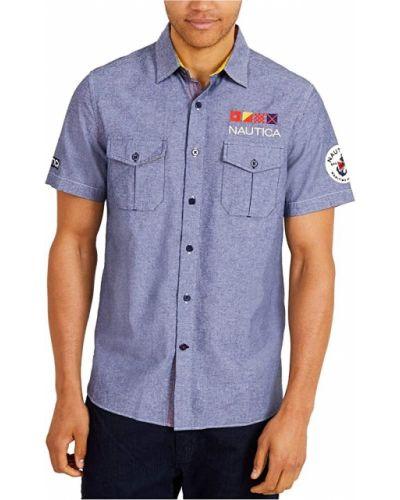 Рубашка на пуговицах - серая Nautica