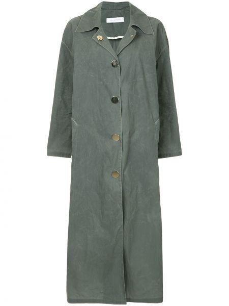 Нейлоновое пальто классическое оверсайз с воротником на пуговицах Walk Of Shame