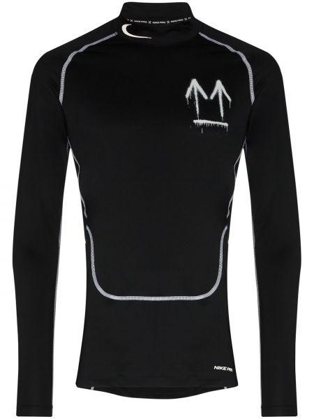 Czarny top z długimi rękawami do pracy Nike X Off White